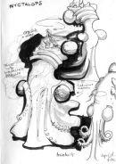 Virgin Nyctalops 1. From sketchbook