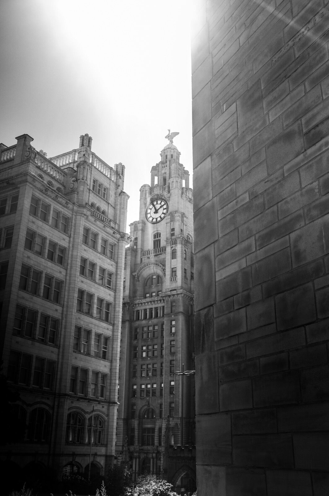 Towering above Liverpool