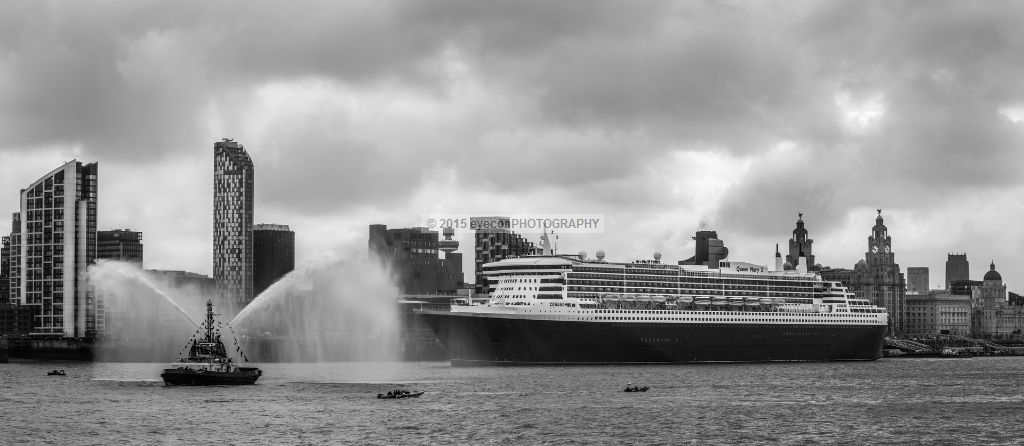 A Queen leaving Liverpool