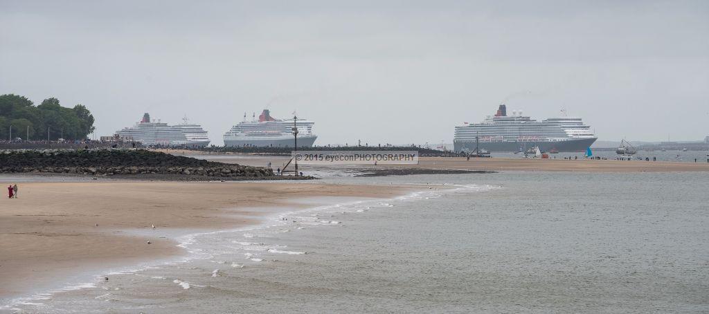 The 3 Queens passing New Brighton