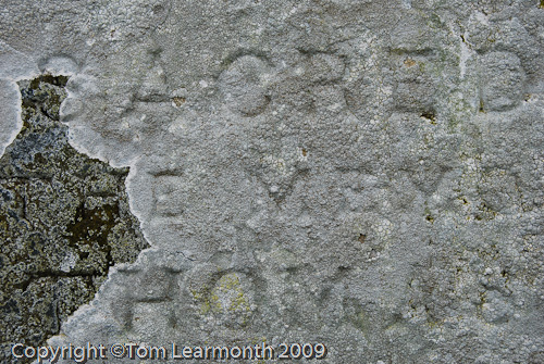 Gravestone at St Thomas a Becket, Haverfordwest