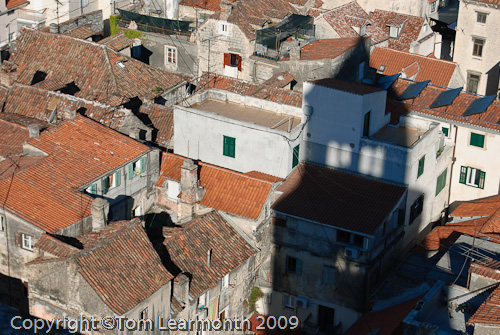 Split; the old city from the Campanile