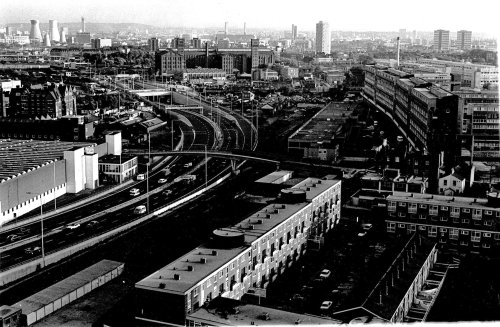 Bow: Blackwall tunnel approach road, Lefevre St and Bryant & May
