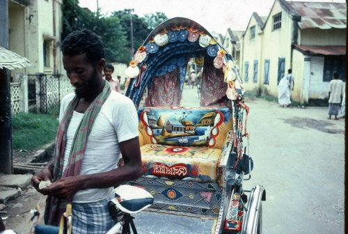 Rickshaw and rickshaw puller
