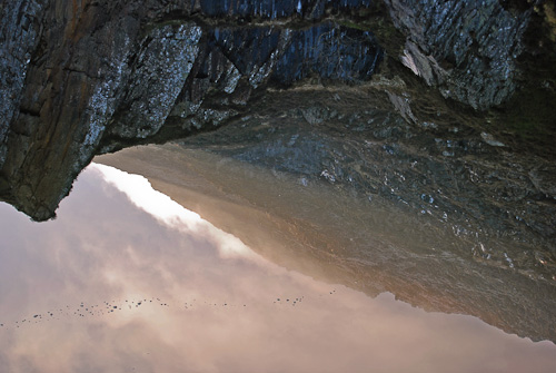 Ice reflection, Moel Siabod, North Wales