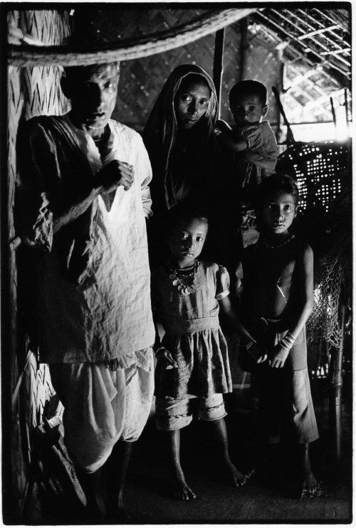Sandwip island, Bangladesh, fisherman and family
