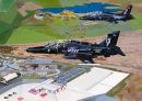 Hawk T1 T2 over RAF Valley Print