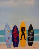 Surf Boards on Beach