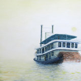 Riverboat - painting
