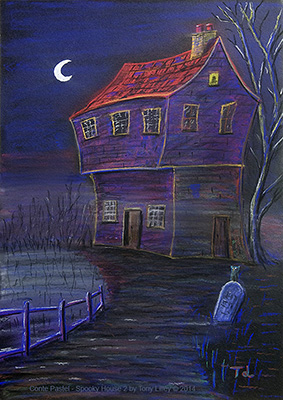 Spooky House in Conte Pastel