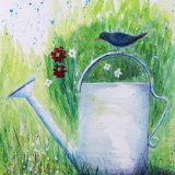 Blackbird & Watering Can
