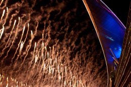 Meydan smoke and fireworks