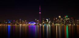 Toronto night panorama (black)