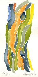 Eucalyptus: watercolour 50h*36w cm framed