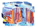 Land-forms-I : watercolour/oil pastel : SOLD