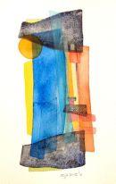 Mediterra-I, watercolour: SOLD