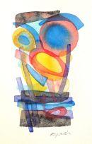 Mediterra-III, watercolour: SOLD