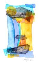 Mediterra-VI, watercolour: SOLD