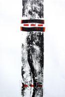 Pathways-I: woodblock/lino/collage: unique