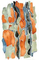 Pinus: watercolour 50h*36w framed