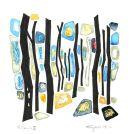 Silva-VI, watercolour/oil-pastel/blackpen, SOLD