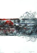 Storming-II : woodblock/lino unique : SOLD