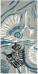 Fossil strata : linocut (edition of 6)  (ONE REMAINING)