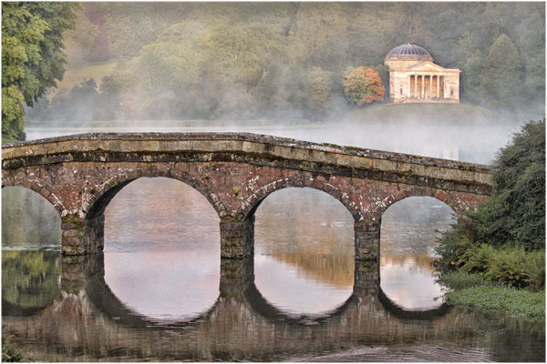 The Bridge and Temple at Stourhead Gardens