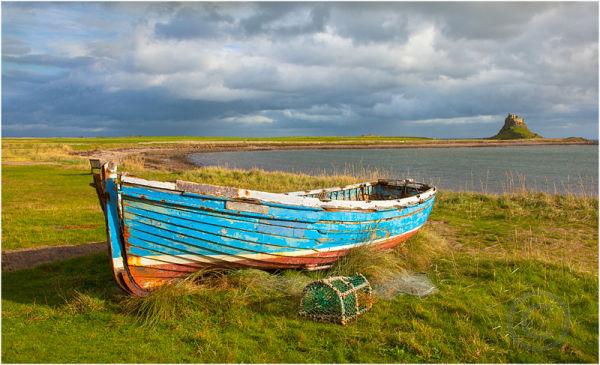 Boat on Holy Island