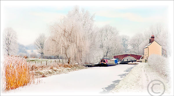 Frozen Canal Lock Milford