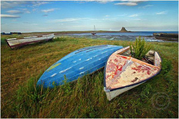 Marooned Boats Holy Island