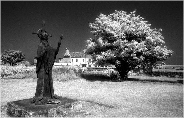 St Cuthbert Statue Holy Island