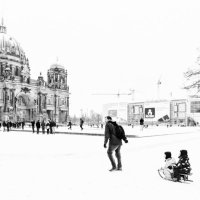 The Cathedral of Berlin Winterscene