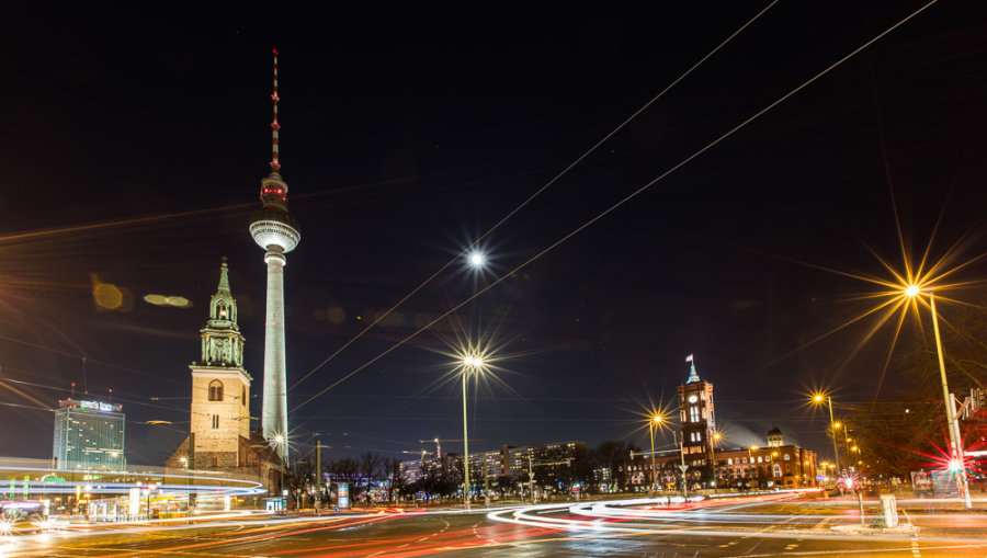 The Fernsehturm and Moon