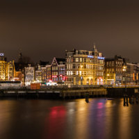 The view from Central Station, Amsterdam