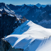 Breathtaking Aiguille du Midi views.