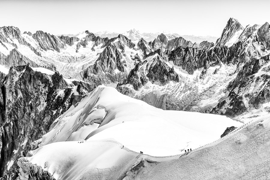 Snow Arete From The Aiguille Du Midi