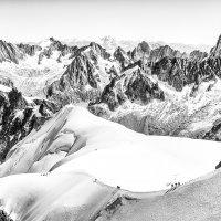 Snow Arete From The Aiguille Du Midi