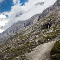 Waterfall on The Eiger Trail