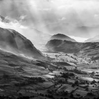 A Blencathra View to St John's in the Vale from Hall's Fell Ridge