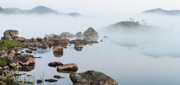 Lochan na h-Achlaise Misty Morning