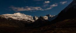 Midnight Moonlit Mountain