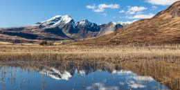 Snow capped Blaven reflections