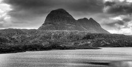 Ominous Suilven across Fionn Loch