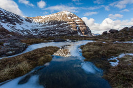 On Beinn Eighe With Reflections of Sail Mhor.