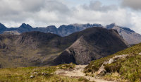 The Cuillins from the Camasunary trail