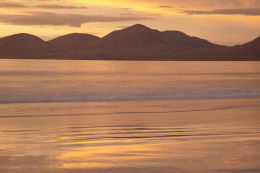The North West Harris Hills at dusk