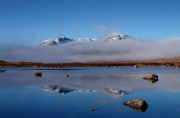 Blackmount reflections in Lochan na h-Achlaise