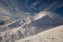 Stob Ghabhar on a glorious winter's day.