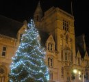 Order No X083: Season's Greetings! The city's Xmas tree outside Balliol College, Oxford
